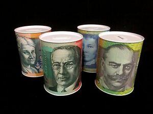 Money Tin Coin box $10 $20 $50 $100 Australian Dollar Notes AU Design Souvenir