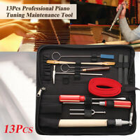 13Pcs Piano Tuning Maintenance Tool Kits Wrench Hammer Screwdriver with Case US