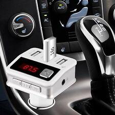 Bluetooth Car Kit Handsfree FM Transmitter Modulator MP3 Player 3 USB Charger