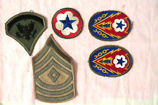 VINTAGE MILITARY RANK & COMMAND DEPLOYMENT PATCHES USA