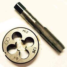 1 Pcs HSS Machine M12 X 1.25 mm Plug Tap and 1pc M12 X 1.25mm Die Threading Tool