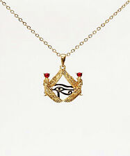 EGYPTIAN ISIS with HORUS EYE NECKLACE PENDANT JEWELRY.ANCIENT EGYPT.BEAUTIFUL