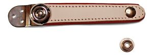Replacement Accordion Bellows strap hinge type White & Red Leather Made in Italy