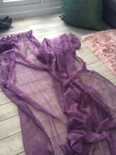 Two Plum Ikea Voile Curtain Panels