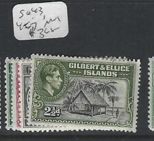 GILBERT AND ELLICE ISLAND  (P0303B) KGVI  SG 43, 45-7   MOG