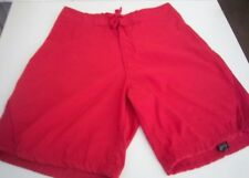 QUIKSILVER - Men's Red Board Shorts-Toggle Closure on legs-SIZE- Relax Waist 32""