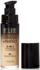 Milani Conceal + Perfect 2-in-1 Foundation Concealer, Vanilla 1 oz