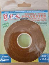 Stix 2 Tape 6mm X 16m Double Sided Ultra Sticky Clear Tape