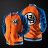 Dragon Ball Z Mens Casual Hoodie Sweatshirt Coat Unisex Baseball Jacket Uniform