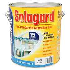Wattyl Solagard Exterior Paint Masonry Matt WHITE BASE 4L