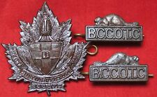 Bishop College COTC Matched HAT & COLLAR BADGE SET - W. Scully Ltd. Montreal-WW2