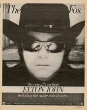 Elton John Rocket Record LP advert 1981