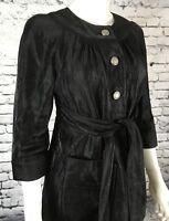 VERA WANG Black Metallic Jacket Dress Women's Size 6