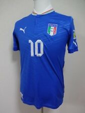 Italy #10 Pazzini 100% Original Soccer Jersey M 2012/13 World Cup Qualfiers