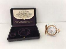 Julius Assmann Glashütte Gold Taschenuhr mit Etui & Zertifikat