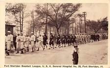 FORT SHERIDAN, IL, GENERAL HOSPITAL BASEBALL LEAGUE, LINE OF PLAYERS, c. 1910-20