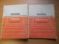 Werkstatthandbuch Toyota Tercel / 4WD 08.1982