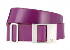 Ladies Callaway 100% Leather Golf Belt Lime Green or Purple Grape M or L 10 - 16