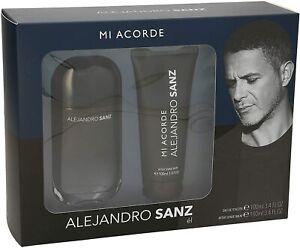 Set De Parfum Homme Mi Acorde Alejandro Sanz Edt (2 Pcs) 100 ml + 100 ml - NEUF