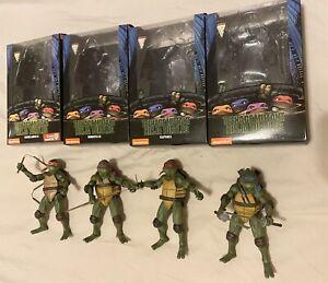 """NECA Teenage Mutant Ninja Turtles 1990 Movie Official 7"""" TMNT Figures + Boxes"""