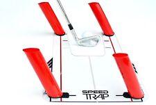 Indoor Outdoor Eyeline Golf Speed Trap Base 4 Rods Swing Hitting Practice Tool