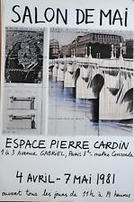 "CHRISTO  Lithographie  ."" Salon de Mai 1981 ""   pv388."