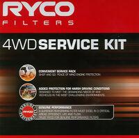 Ryco 4WD Service Air Oil Fuel Filter KIT SUIT MITSUBISHI Pajero Di-D TDi 3.2L