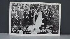 1937 Postcard Princess Juliana & Bernhard of the Netherlands Wedding Service