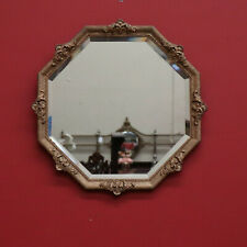 Antique French Octagonal Wall Mirror, Bevelled Edge French Entry Hall Mirror