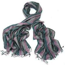 Ladies Scarf Multi Colour Striped Slate Pink and Blue Scarve Shawl BN Gift Idea