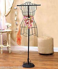 Black Metal Wire Vintage Boutique Mannequin Dress Form NEW