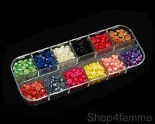 12 Colors Total 660pcs Half Pearl Beads 5mm Flat Back