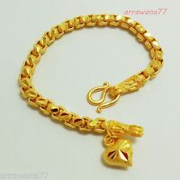 Chain 22K 23K 24K THAI BAHT YELLOW GOLD GP Bracelet Jewelry 7.5 inch