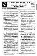 Blaupunkt Service Manual für Granada 24400