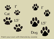 STENCIL Cat Dog Paw Prints Pet Tracks Scrapbook Puppy Kitty Kennel Signs U Paint