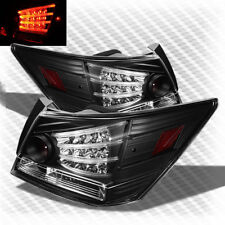 For 2008-2012 Honda Accord 4 Door LED Blk Tail Lights Rear Brake Lamp Pair New