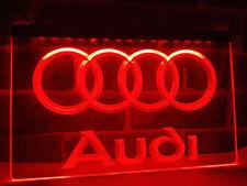 Audi Auto LED Neon Neonzeichen Leuchtschild Leuchte Lampe LED Bar Pub Café