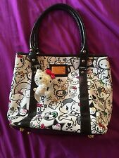 LIMITED ED Tokidoki Sanrio Hello Kitty Tote Bucket Shoulder Bag White RARE