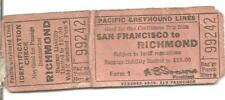 Vintage 1940's Pacific Greyhound Lines Bus Ticket San Francisco to Richmond