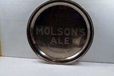 VINTAGE MOLSON'S ALE CHROMED SERVING TRAY     B027