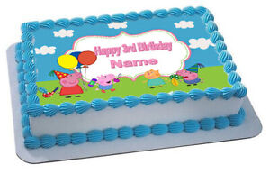 PEPPA  PIG  REAL EDIBLE ICING  CAKE TOPPER PARTY IMAGE FROSTING SHEET