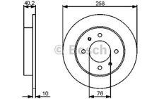 BOSCH Juego de 2 discos freno 258mm HYUNDAI COUPE ELANTRA LANTRA 0 986 479 484
