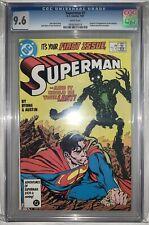 Superman 1 CGC 9.6 Second Series 1987
