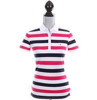 Tommy Hilfiger Women Classic Fit Short Sleeve Stripe Polo Shirt - Free $0 Ship