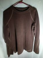 "Prana Mens Shirt Long Sleeve ""Breathe"" Warm Large Size L Brown"