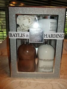 Bath Set Baylis & Harding Jojoba Silk & Almond Oil Gift Set 4pc LARGE