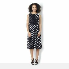 Ronni Nicole O So Slim Sleeveless Jersey Spot Flared Skirt Midi Dress 14 BNWT*