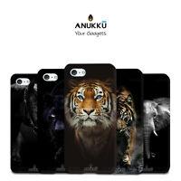Custodia Cover Animali Sfondo Nero Per Apple iPhone 4 4s 5 5s 5c 6 6s 7 Plus SE