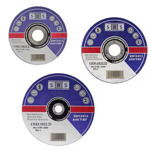SBS® Trennscheiben ø 115, 125, 230 mm Flexscheiben Metalltrennscheiben Inox