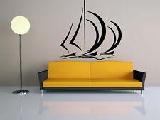 Wall Room Decor Art Vinyl Sticker Mural Decal Ship Boat Sailboat Ocean O27